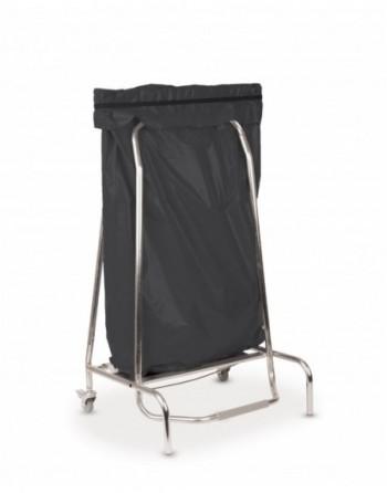 Porte sac poubelle inox 110L